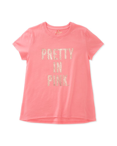pretty in pink cotton swing tee, size 2-6