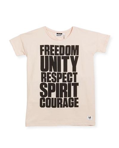 Rilla Short-Sleeve Graphic T-Shirt, Pink, Size 4-14