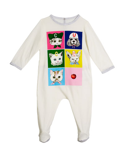 6e044efea4a Quick Look. Gucci · Pets Print Long-Sleeve Footie Pajamas