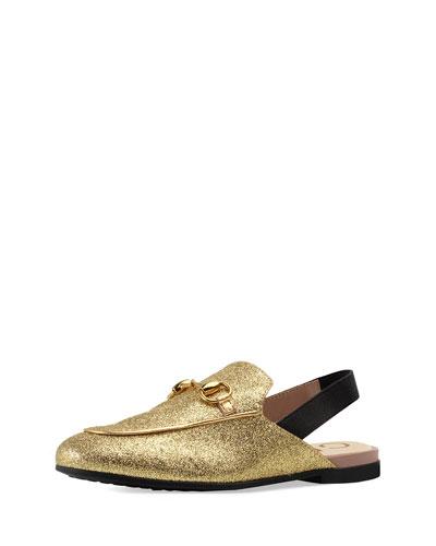 6caa3720e Quick Look. Gucci · Princetown Glittered Horsebit Mule Slide ...