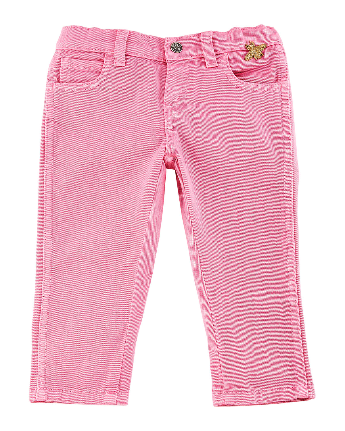 Cotton-Stretch Tapered Pants, Size 12-36 Months