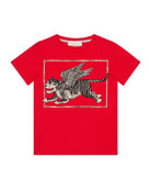 Winged Tiger Short-Sleeve Jersey T-Shirt, Size 4-12
