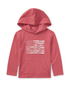 American Flag Jersey Hoodie, Red, Size 2-4
