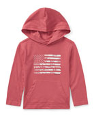 American Flag Jersey Hoodie, Red, Size 5-7