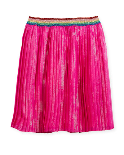Iridescent Organza Pleated Skirt, Size 4-12