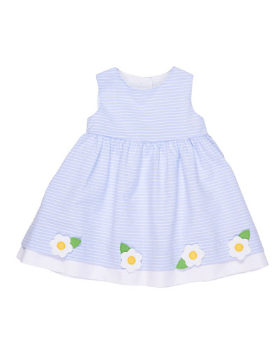 Stripe Sleeveless Dress w/ Flowers, Size 2-6X