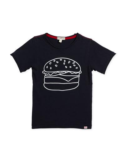Burger Graphic T-Shirt, Size 2-10