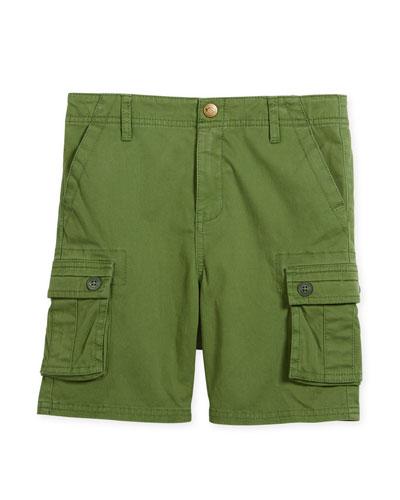 Mesa Cotton-Stretch Cargo Shorts, Size 2-10