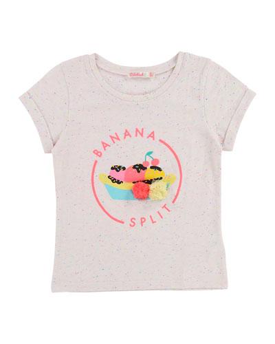 Short-Sleeve Banana Split T-Shirt, Size 2-8