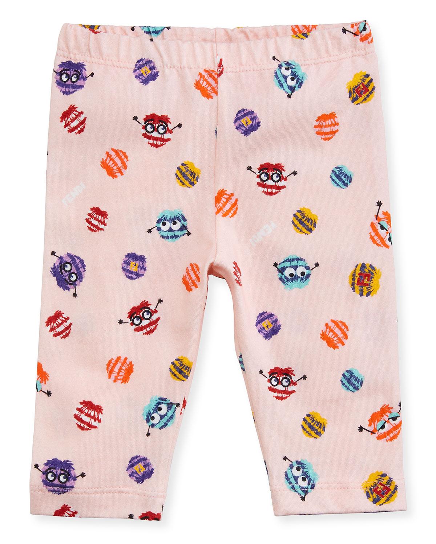 Girls Monster Pompom Graphic Leggings Size 39 Months