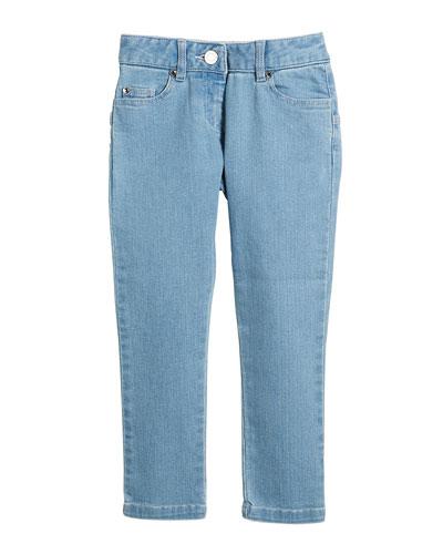 Star-Back Denim Trousers, Size 6-10
