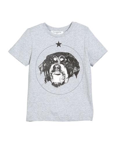 Short-Sleeve Cotton Dog Graphic T-Shirt, Size 4-5