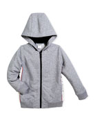 Hooded Jacket w/ Logo Sides, Size 6-10