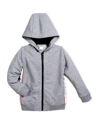 Hooded Jacket w/ Logo Sides, Size 12