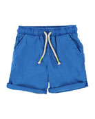 Cotton Canvas Drawstring Shorts, Size 2-8