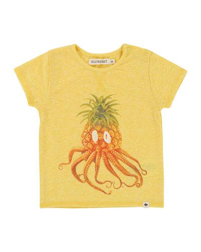 Pineapple Octopus T-Shirt, Size 12M-3T