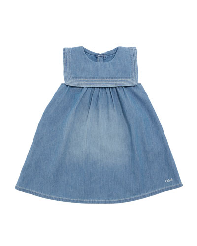 Light Denim Dress w/ Sailor Collar, Size 2-3