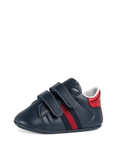 New Ace Leather Grip-Strap Sneaker, Infant Sizes 0-12 Months