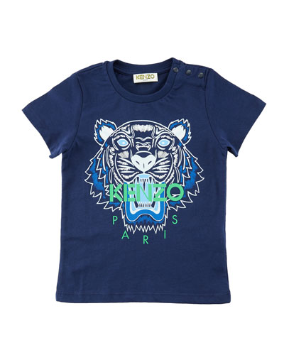 Short-Sleeve Logo Tiger Tee, Size 2-3