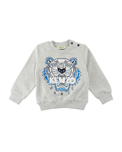 Tiger Embroidered Sweater, Size 12-18 Months