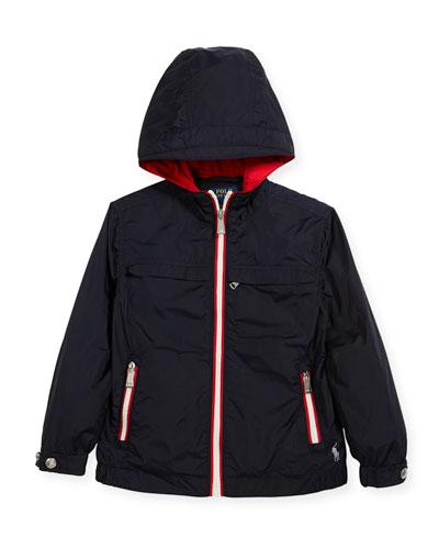 Nylon Taffeta Hooded Jacket, Size 5-7
