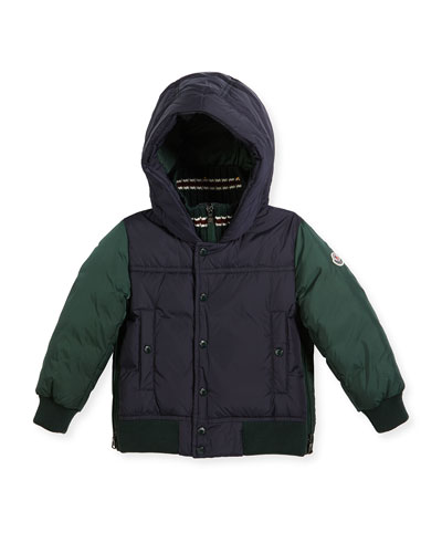 Luke Two-Tone Hooded Jacket, Size 4-6
