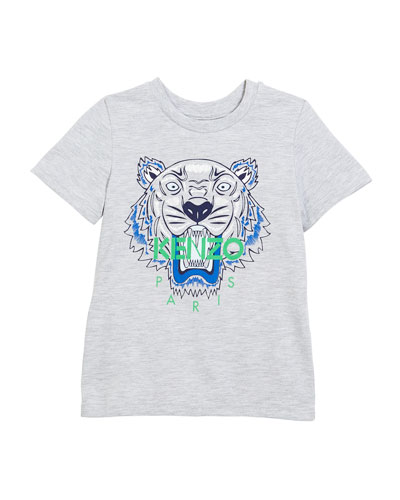 Tiger Face Graphic T-Shirt, Sizes 4-6