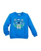 Tiger Face Sweatshirt, Sizes 8-12