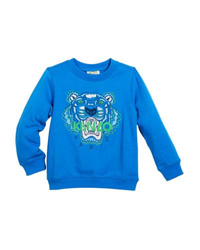 Tiger Face Sweatshirt, Sizes 14-16