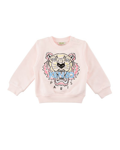 Tiger Embroidered Sweater, Size 6-18 Months