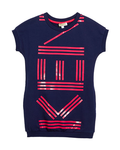 Short-Sleeve Logo Dress, Size 8-12
