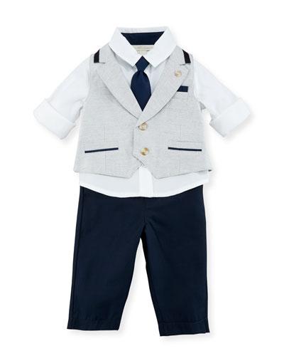 Mock-Vest Shirt w/ Pants, Gray, Size 3-24 Months