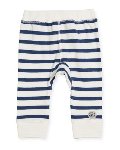 Striped Cotton Sailor Soft Pants, Size 6-24 Months