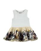 Cordelia Drop-Waist Sleeveless Dress w/ United Bunnies Skirt, Size 6-24 Months