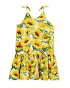 Camilla Sunflower Fields Tie-Strap Dress, Size 3T-12