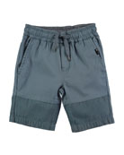 Andro Cotton-Stretch Shorts, Size 4-10