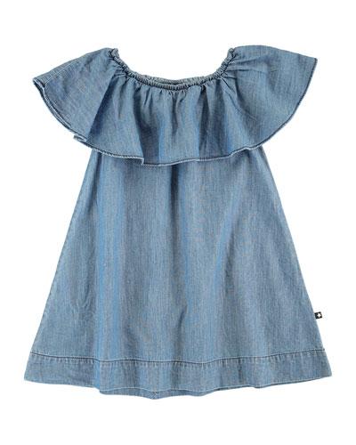 Cherisa Ruffle-Sleeve Dress, Size 3T-12