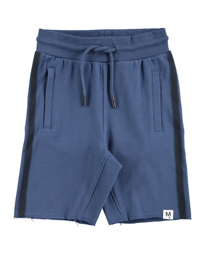 Aliases Cotton-Blend Sweat Shorts w/ Contrast Sides, Size 4-10