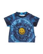 Emilio Short-Sleeve Tie-Dye Smiley Face T-Shirt, Size 6-24 Months