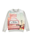 Regine Soft City Crewneck Sweatshirt, Size 4-12