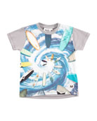 Runi Short-Sleeve Surfing T-Shirt, Size 4-10