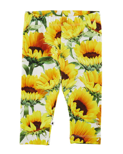 Stephanie Sunflower Jersey Stretch Leggings, Size 6-24 Months