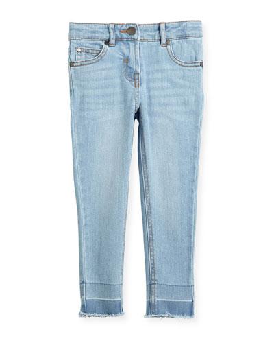 Nina Cut-Off Skinny Jeans, Size 4-14
