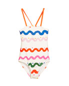 Hailey Squiggly-Print One-Piece Swimsuit, Size 4-14