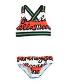 Gloria Two-Piece Swimsuit w/ Stella Print, Size 4-14