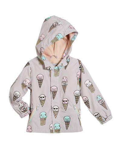 Eve Color-Changing Ice Cream Hooded Jacket, Size 12-36 Months