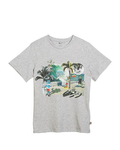Arrow Cartoon Beach Graphic T-Shirt, Size 4-10