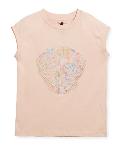 Lois Short-Sleeve Seashell T-Shirt, Size 4-14