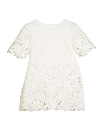 Harper Eyelet Shift Dress, Size 4-14