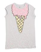 Jony Ice Cream-Print Dress, Size 4-14